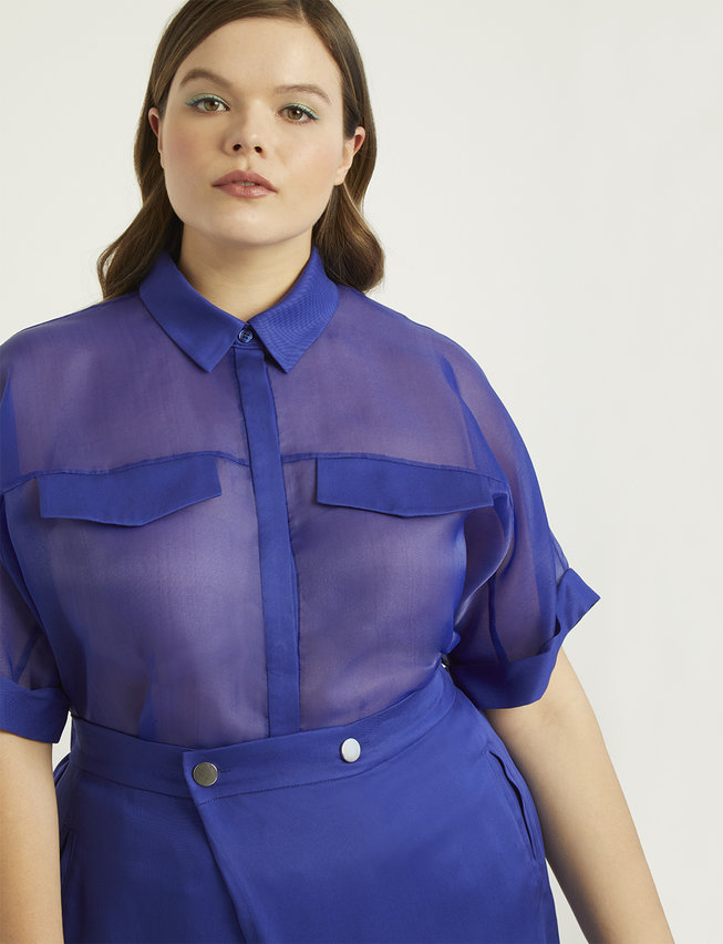 Color block plus size pride outfit