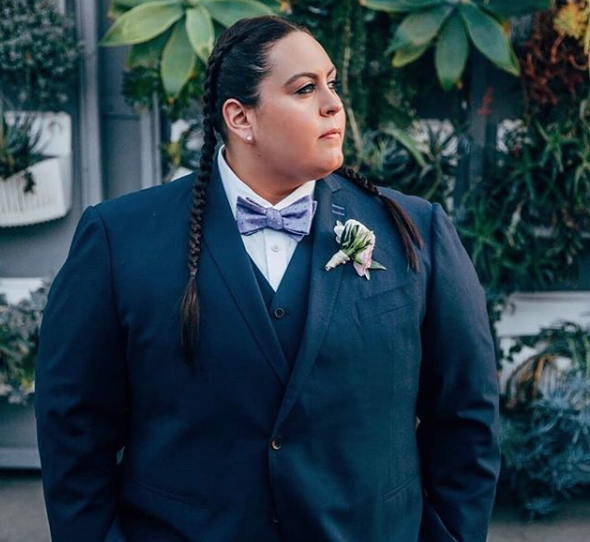 Plus size menswear suits masculine of center