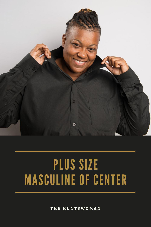 Plus size masculine of center fashion