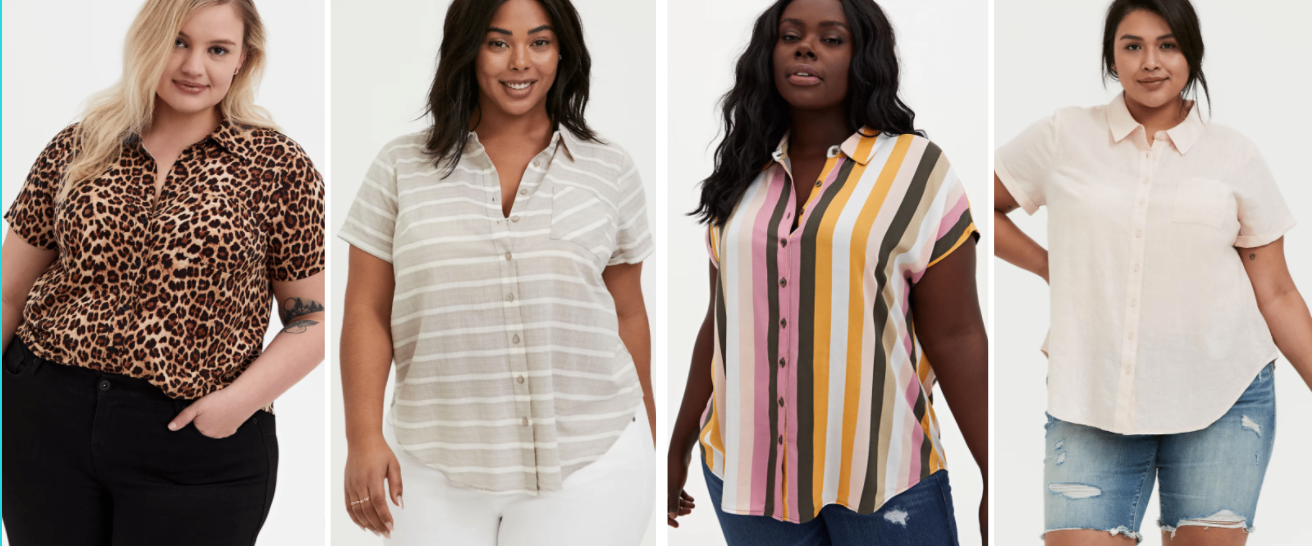 masculine of center plus size button down shirts