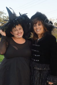 Brianne and her mom, Helen, dressed up in witch costumes for #Witchfest