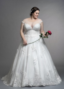 You Re Engaged 7 Brands That Carry Unique Plus Size Wedding Dresses