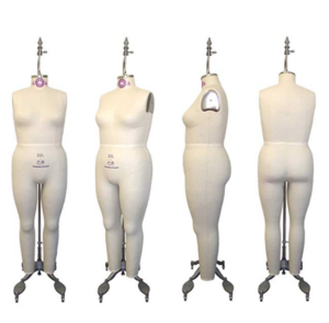 Hanging plus size dressform
