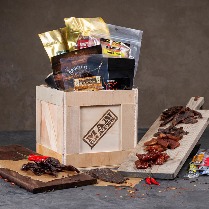 Exotic Meat Crate from Man Crate .- gifts for dad