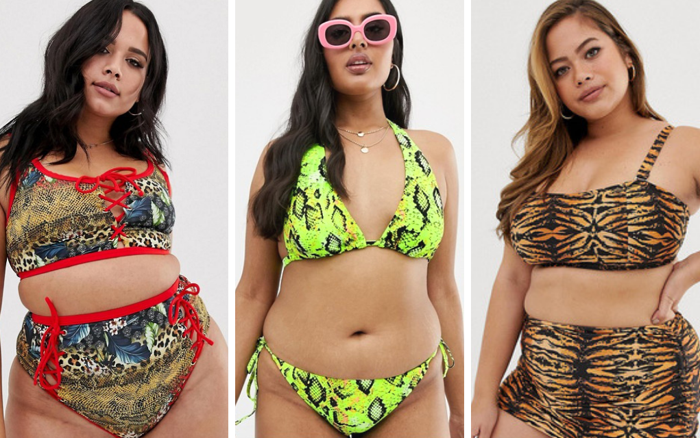 trendy plus size swimsuit from ASOS