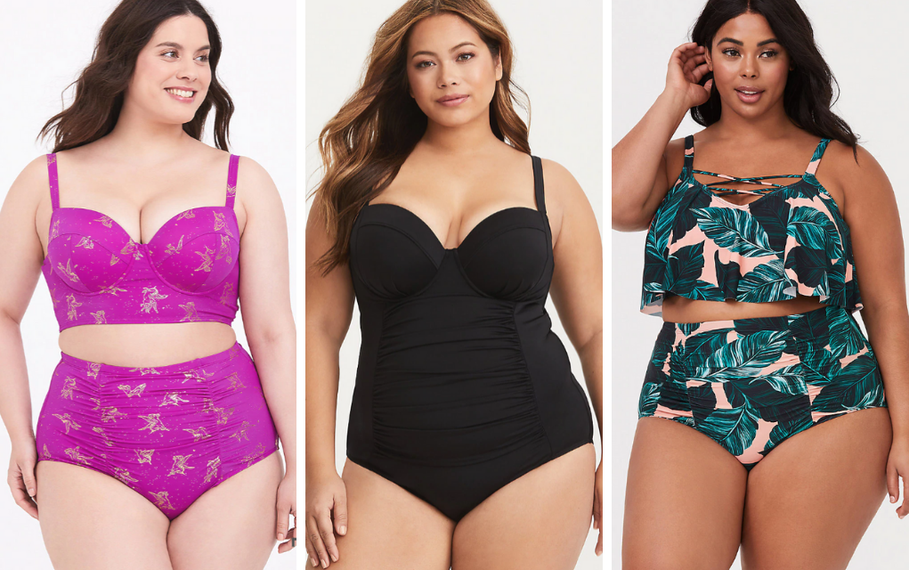 plus size swimsuit two piece and one pieces from torrid