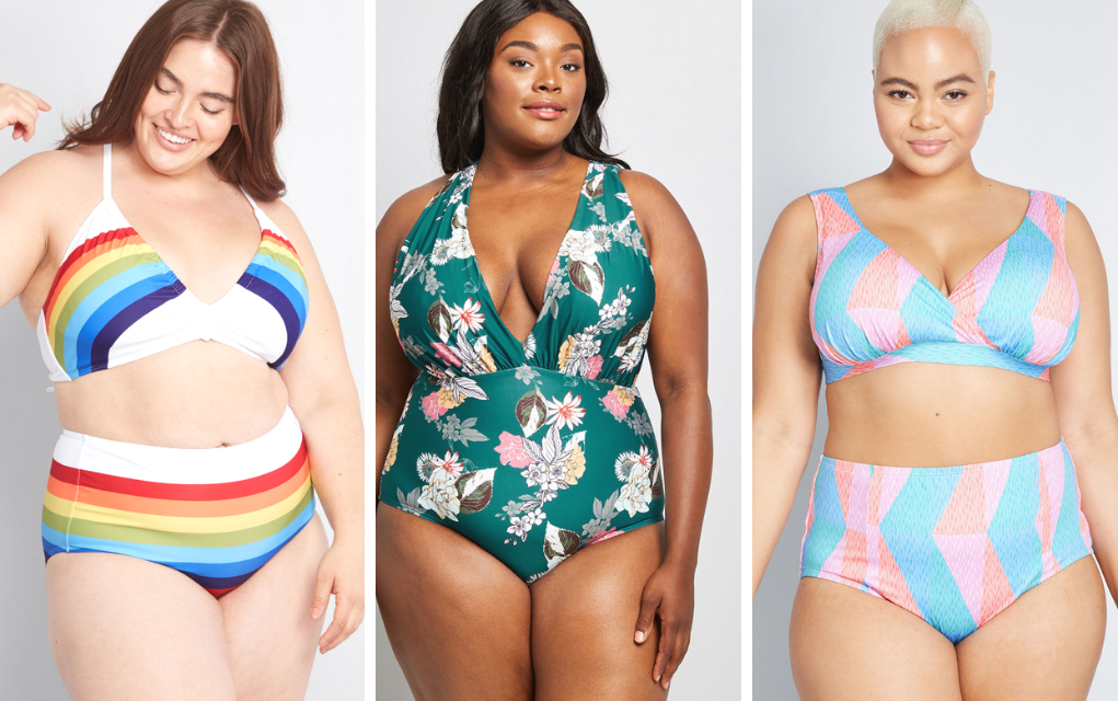 trendy plus size swimsuit from ModCloth