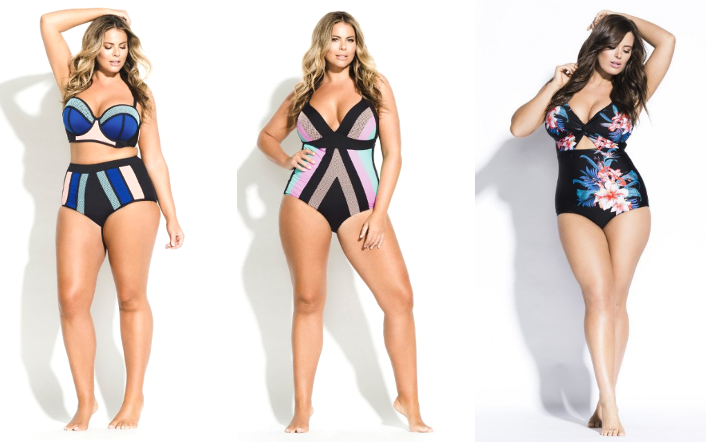 trendy plus size swimsuits high waisted and one piece