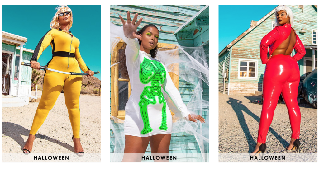 Plus size sexy Halloween costumes from Ptretty Little Thing