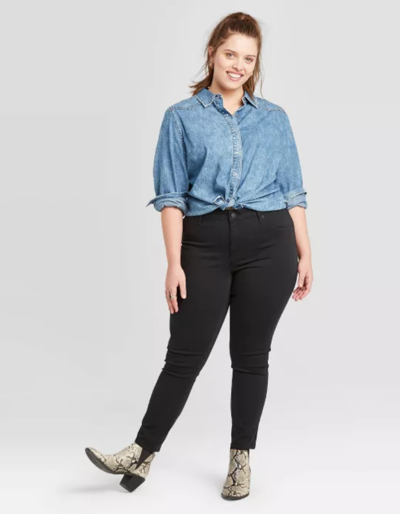 Plus size jeggings from Target in black