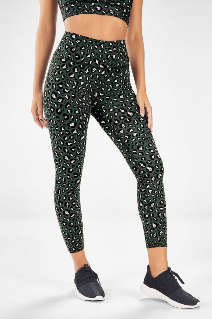 Plus size workout leggings from Fabletics in a Leopard Print