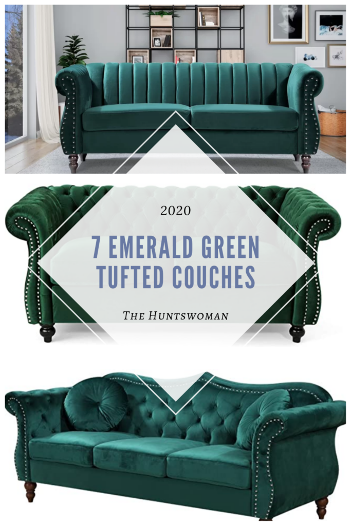 Emerald green tufted couches and sofas research - New home owner furnishing a new apartment!