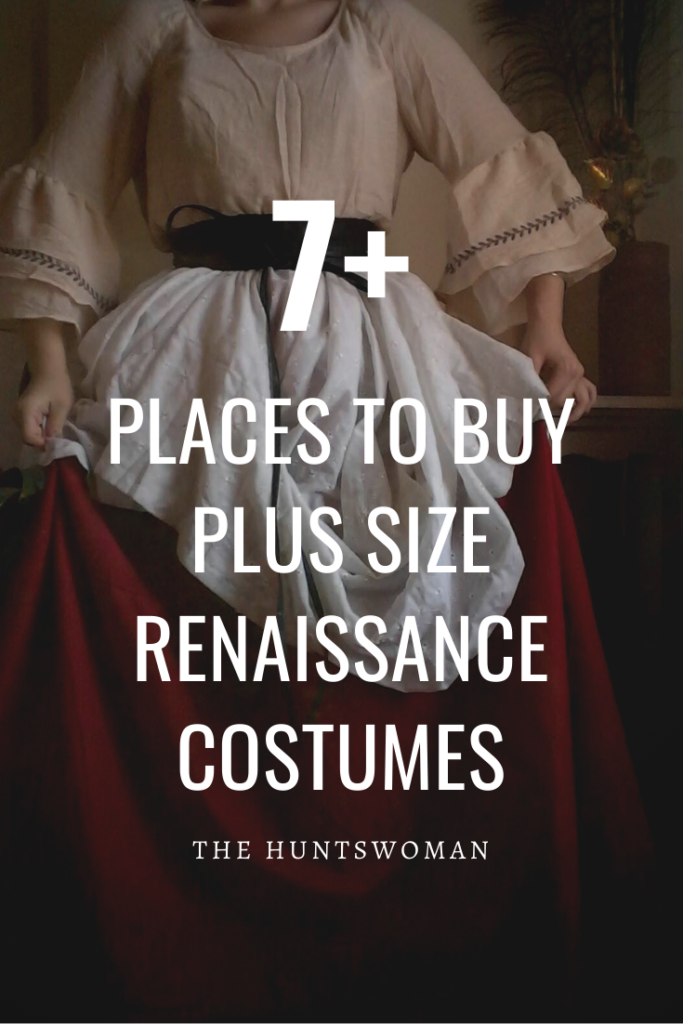 Where to buy plus size renaissance and medieval costumes