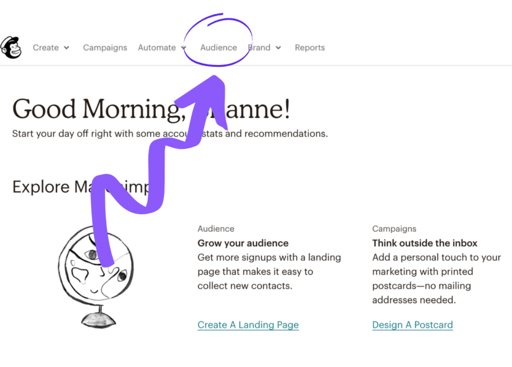 Setting up a newsletter link in MailChimp step 4