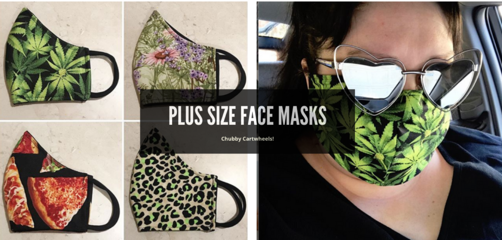 where to buy fabric face masks for plus size faces