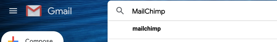 Setting up a newsletter link in MailChimp step 2