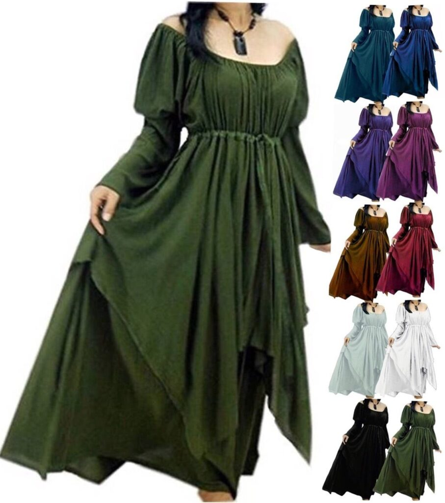 Peasant plus size renaissance costume dress