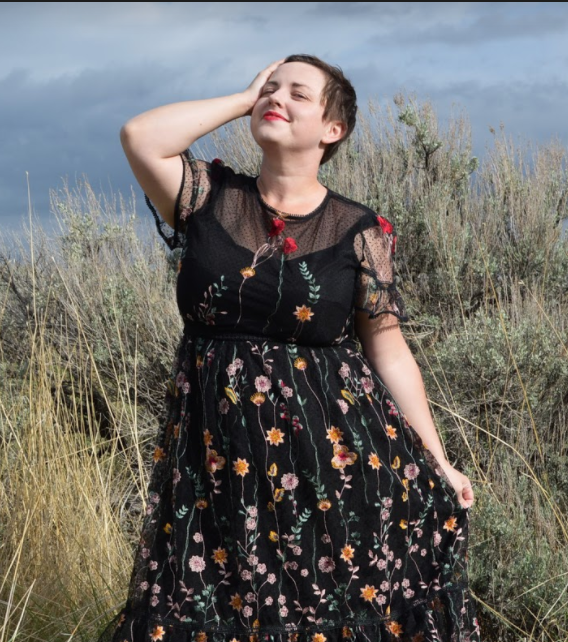 Black Lace Dress in Size 18 Plus size long prairie dress Plus Size ML Monique Lhuillier Look Book