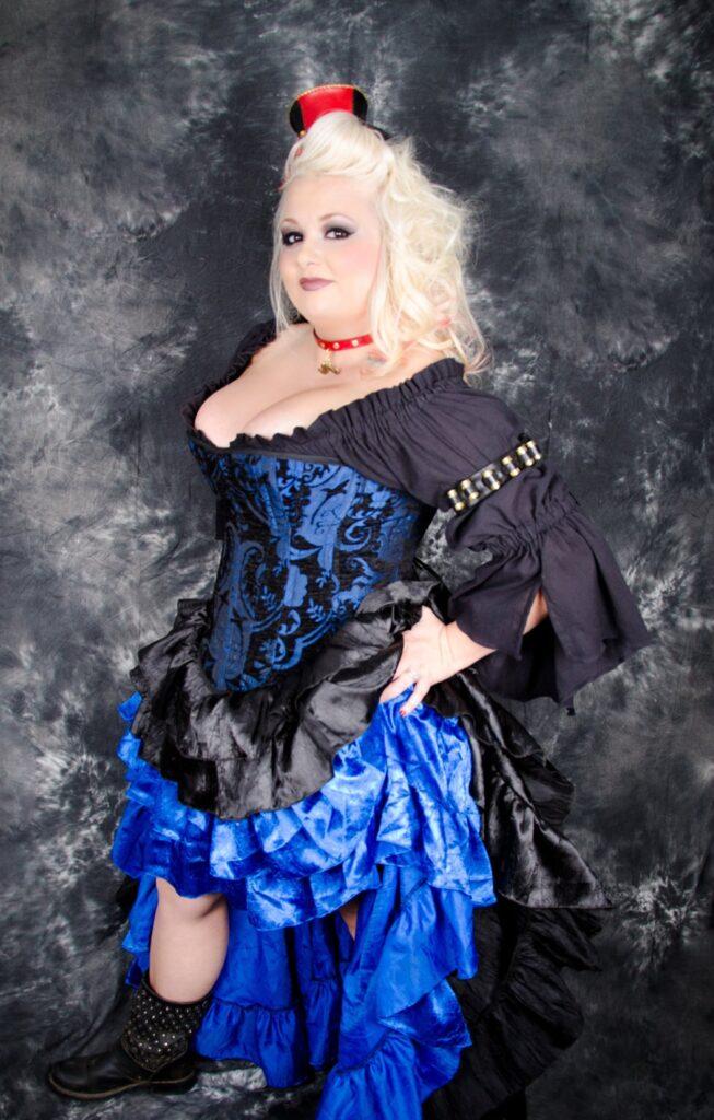 Plus size renaissance steampunk corset costume