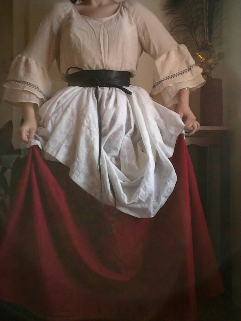 Natural linens plus size renaissance costume