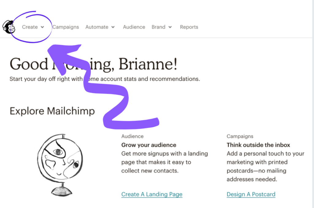 Setting up a newsletter link in MailChimp step 6
