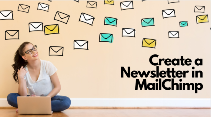 how to set up a newsletter in mailchimp for authors and bloggers