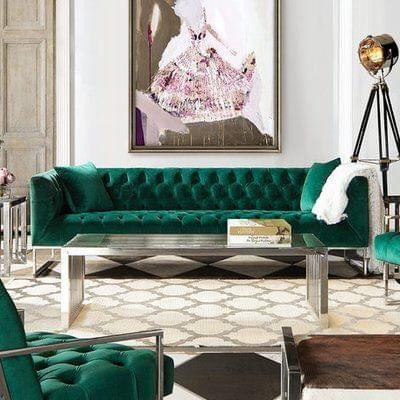 emerald green tufted couch pricing research