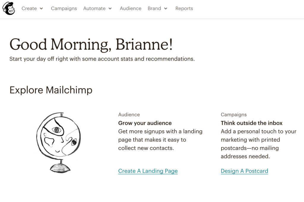 Setting up a newsletter link in MailChimp step 3