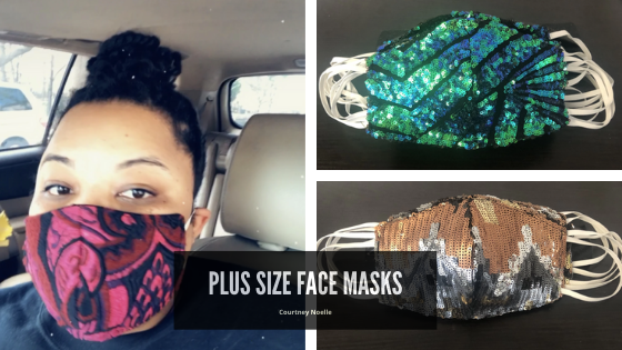fashion plus size face mask from indie designer