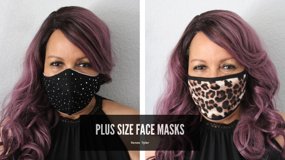 plus size fabric face mask from indie designer
