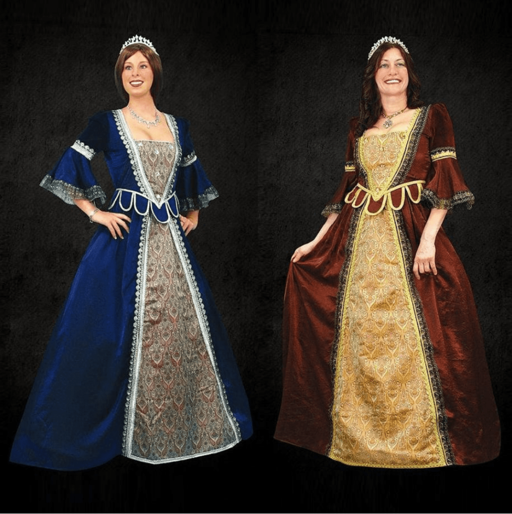 Plus size queen renaissance costume