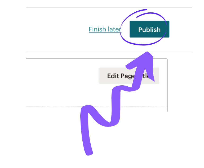 Setting up a newsletter link in MailChimp step 14