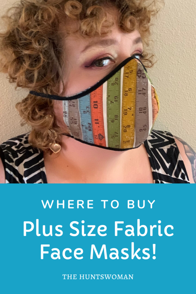 where to buy fabric face masks for larger plus size faces