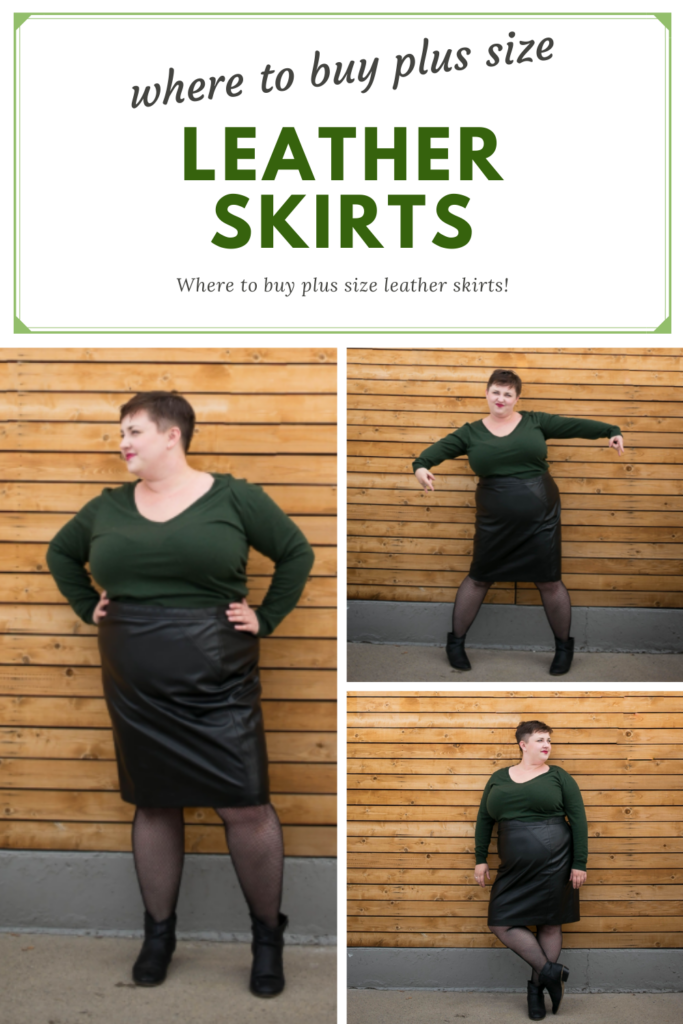 Where to buy plus size leather skirts - shopping guide!