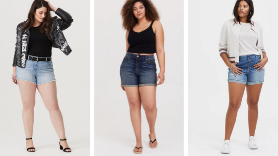 where to buy plus size shorts high waisted