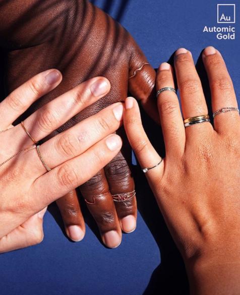 Plus size rings form minimalist brand Automic Gold