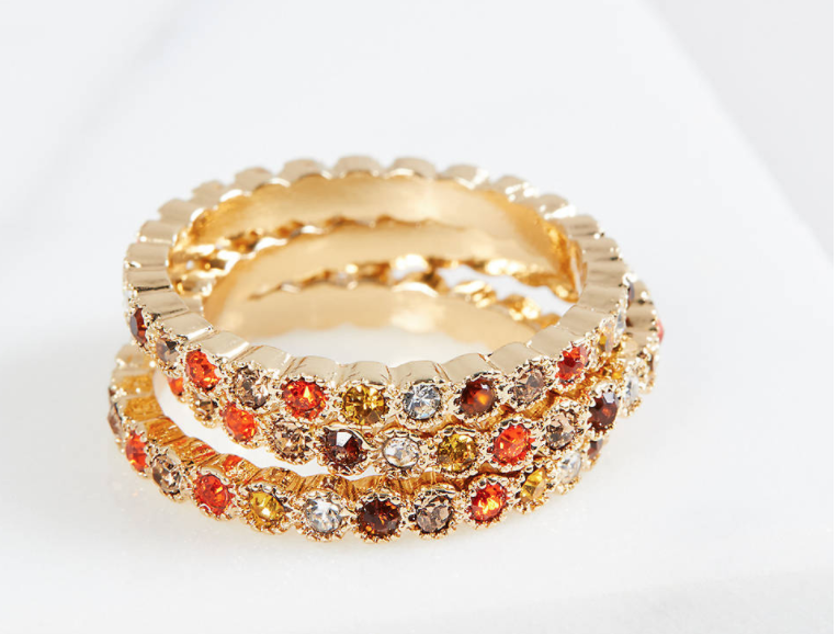 Costume jewelry plus size rings from Lane Bryant