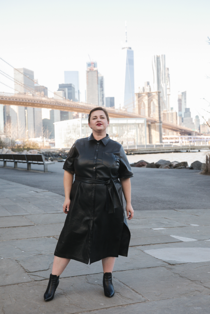 Plus size LGBT fashion blogger