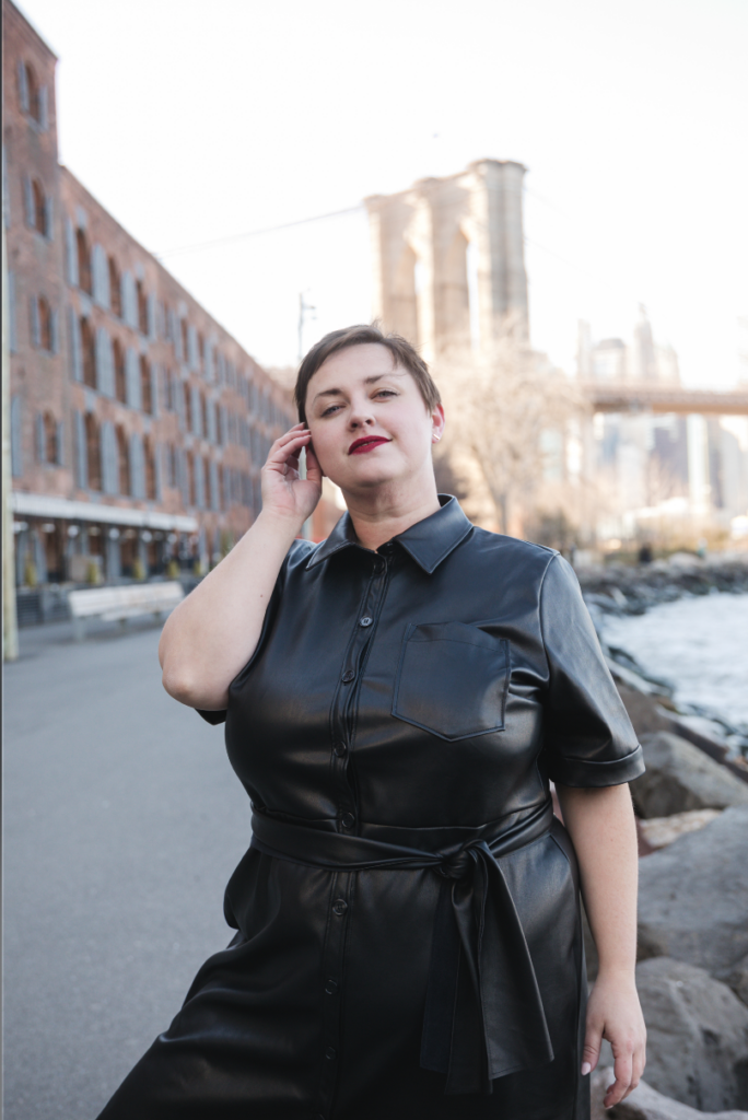 Plus size faux leather look book