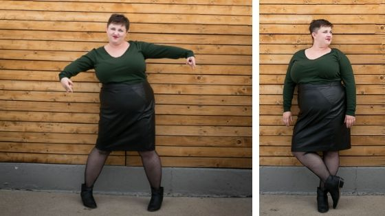 Where to buy a plus size faux leather skirt