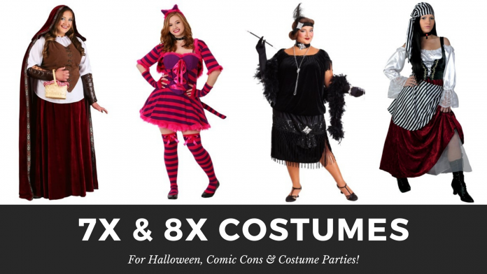 7x & 8x Costumes for Halloween, Costume Parties & Comic Con