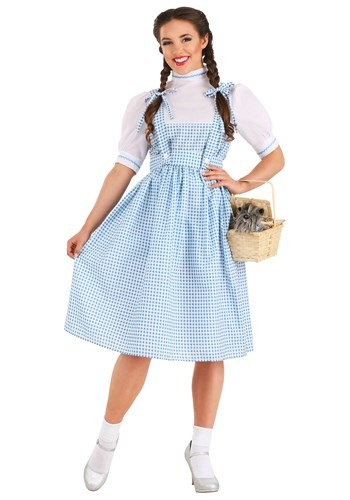 Adult Plus Size Kansas Girl Costume Dorothy Wizard of Oz Plus Size Halloween Costume in a 7X