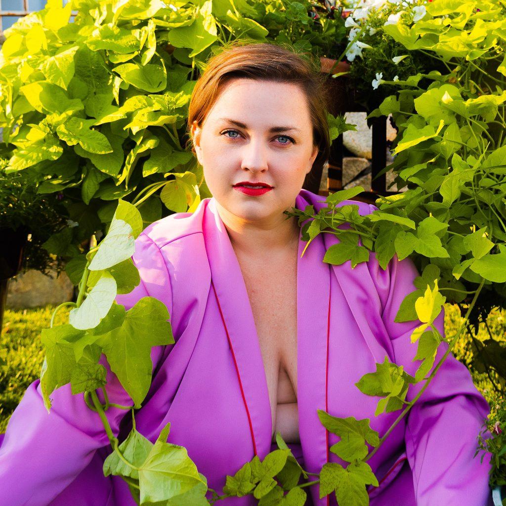 BAckyard photoshoot plus size business suit with utah model brianne huntsman.jpg