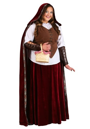 Deluxe Red Riding Hood Plus Size Costume  - 6X and 7X!  With cloack and basket!