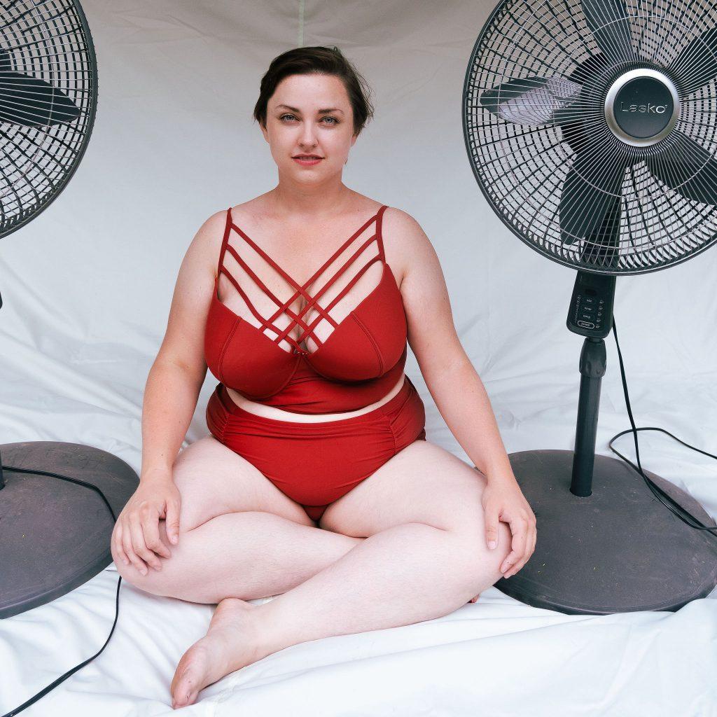 Plus Size Fashion Blogger REviews Amazon Plus Size Bikini in Red.jpg
