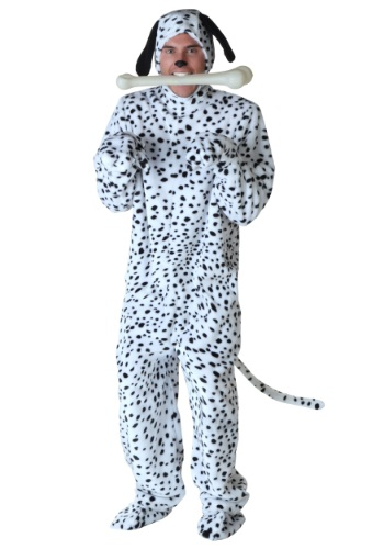Cruella De Vil group costume - plus size men's dalmatian dog costume with floppy ears