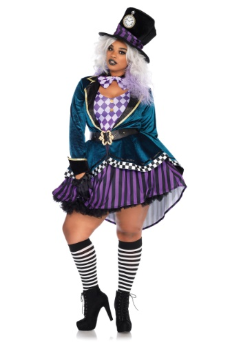 6X Plus Size Short Halloween Costume - Mad Hatter from Alice and Wonderland