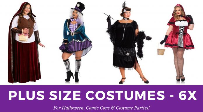 6X Plus Size Halloween Costumes