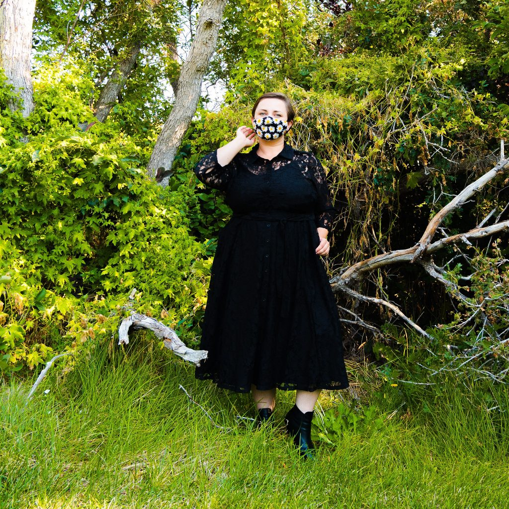 Plus size fall fashion black witch dress look book featuring Torrid