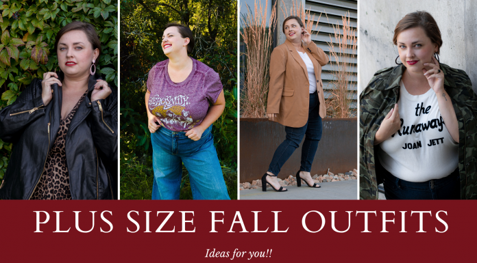 Plus size fall outfit ideas - blazers, dresses and jackets